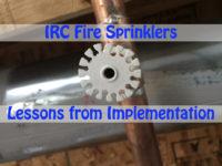 IRC Fire Sprinklers